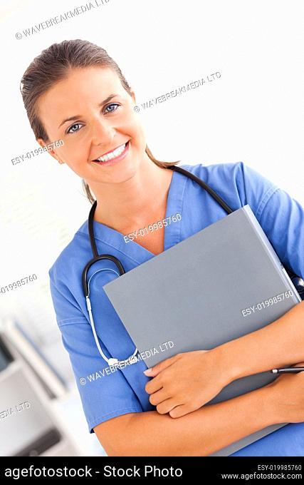 Smiling nurse looking at the camera