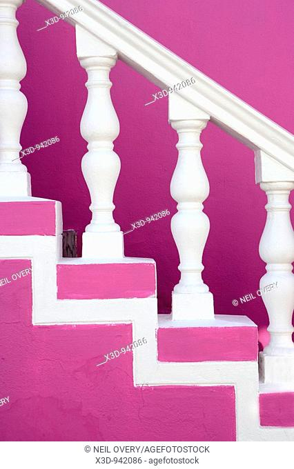 Colourful banister