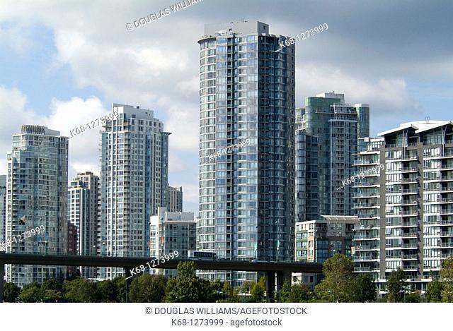 apartment buildings on False Creek, Vancouver, BC, Canada