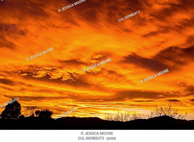 Colorado sunset, Colorado Springs, USA