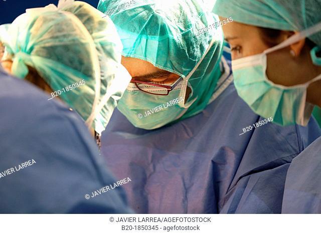 Hip replacement surgery, Orthopedics and Trauma surgery, Surgeon, Operating Theatre, Donostia Hospital, San Sebastian, Donostia, Gipuzkoa, Basque Country, Spain