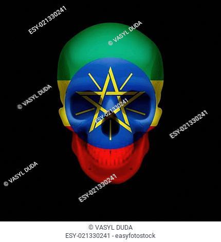 Ethiopian flag skull