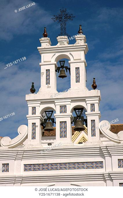 Chapel of Cross in the street Arenal - Bell gable, Feast of the May Crosses, Bonares, Huelva-province, Spain