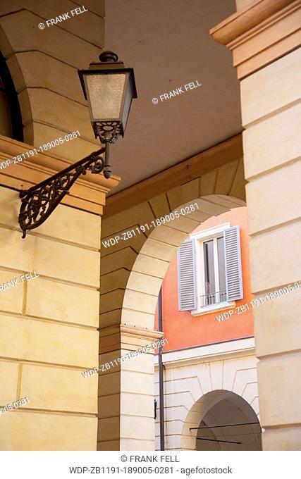 Italy, Emilia Romagna, Modena, Architecture & Lamp