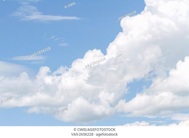 Beautiful White Cloud in the Perfect Blue Sky