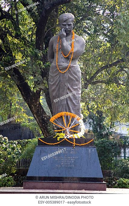 Chandrasekhar Azad statue freedom fighter in Alfred park ; Allahabad ; Uttar Pradesh ; India