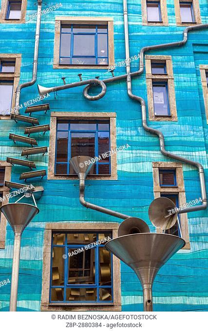 Kunsthofpassage courtyards in Dresden Neustadt, Germany, Europe