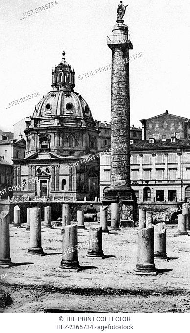 The Church of the Most Holy Name of Mary at the Trajan Forum, Rome, Itlay, c1930s. Trajan's Forum was the last imperial forum to be built in Rome