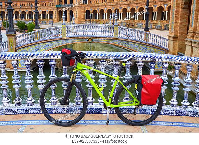 Seville Sevilla Plaza de Espana bike Andalusia Spain square