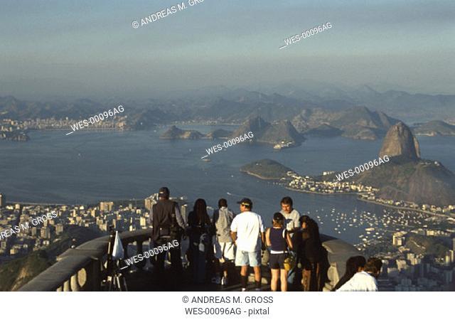 view of Rio de Janeiro from Corvocado