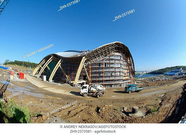Construction of the biggest oceanarium in the CIS. Vladivostok, Russky Island, Far East, Primorsky Krai, Russian Federation