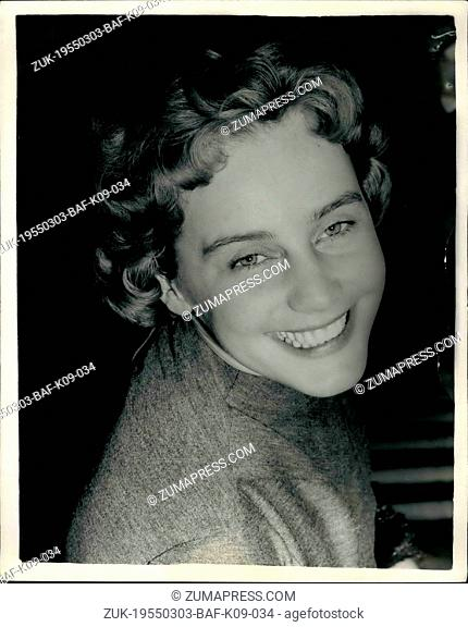 Mar. 03, 1955 - Vienna Born Screen star holds press reception in London won world's best Actress Award at Cannes Film festival