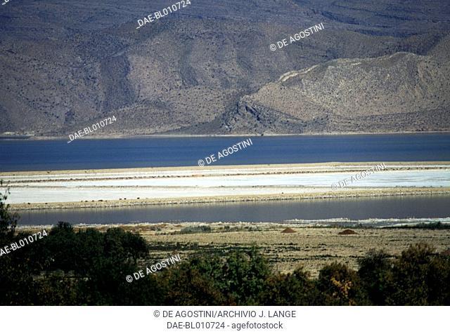 View or Bakhtegan Lake (Daryacheh-ye Bakhtegan), salt lake in Fars Province, Iran