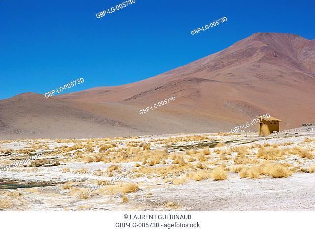 Estacion termale, Eduardo Abaroa Reserves National of Andean Fauna, Lipez Desert, Department of Potosi, Sud Lipez Province, La Paz, Bolívia