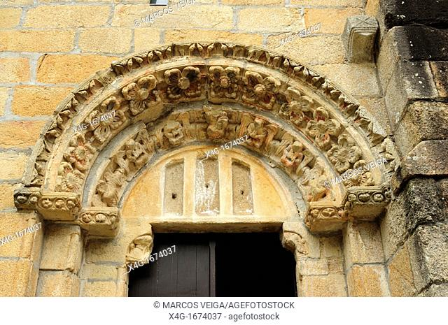 Portico of San Lourenzo de Carboeiro monastery  Silleda, Galicia, Spain