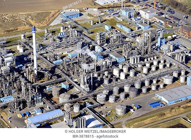 Aerial view, Sasol chemical plant, ChemCoast Park, Brunsbüttel, Schleswig-Holstein, Germany