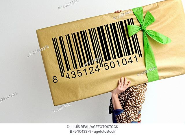 Barcode, gift, concept