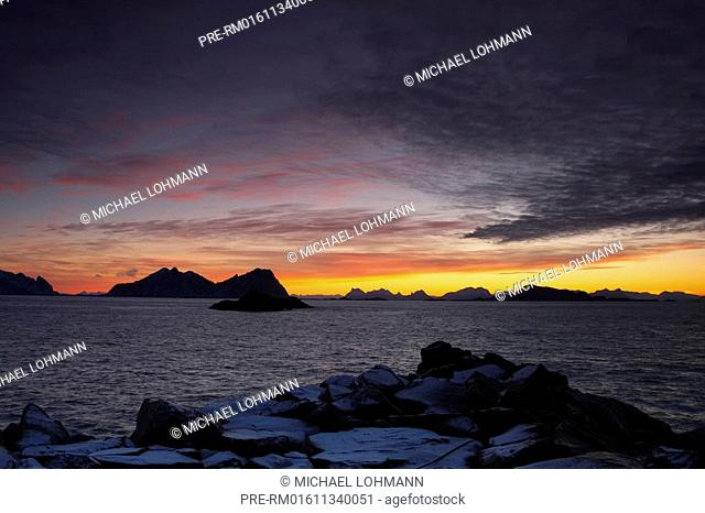 Sunrise Vestfjord, Lofoten, Norway