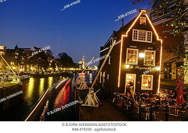 Café de Sluyswacht, Oudeschans, Amsterdam. Holland