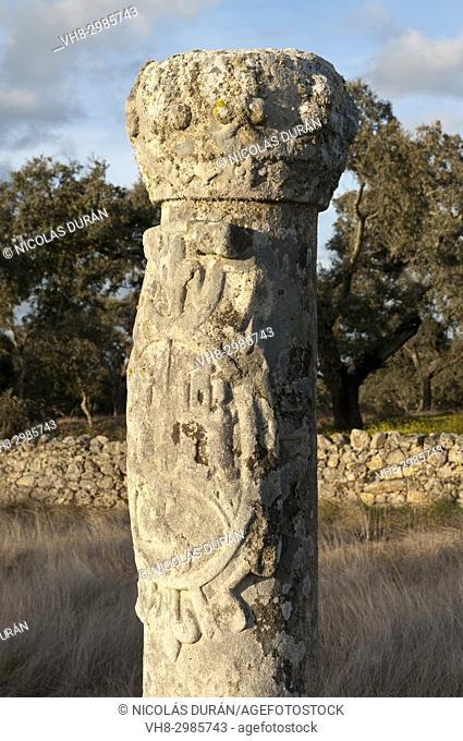 Columna de Alcántara. Encomienda de Piedrabuena. San Vicente de Alcántara. Badajoz. Extremadura. Spain