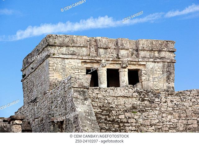 El Castillo, The Castle at Tulum Ruins, Quintana Roo, Yucatan Province, Mexico, Central America