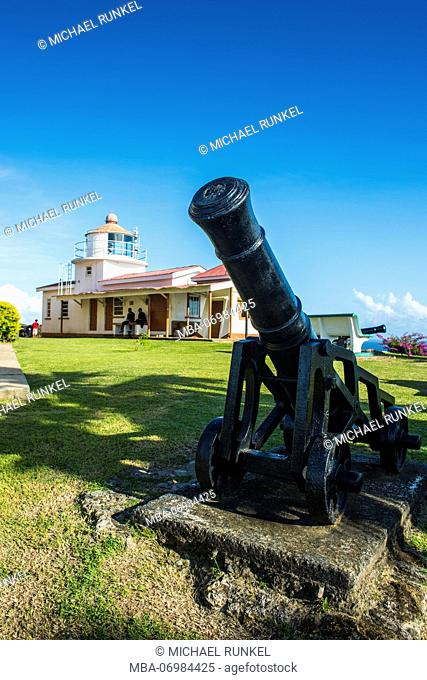 Old cannons, Fort King George, Scarborough, Tobago, Trinidad and Tobago, Caribbean