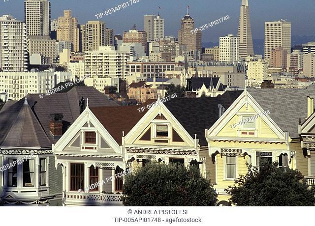 USA, California, San Francisco, victorian houses