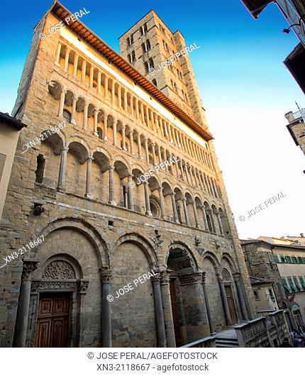 Santa Maria della Pieve church, Corso Italia Arezzo, Tuscany, Italy, Europe
