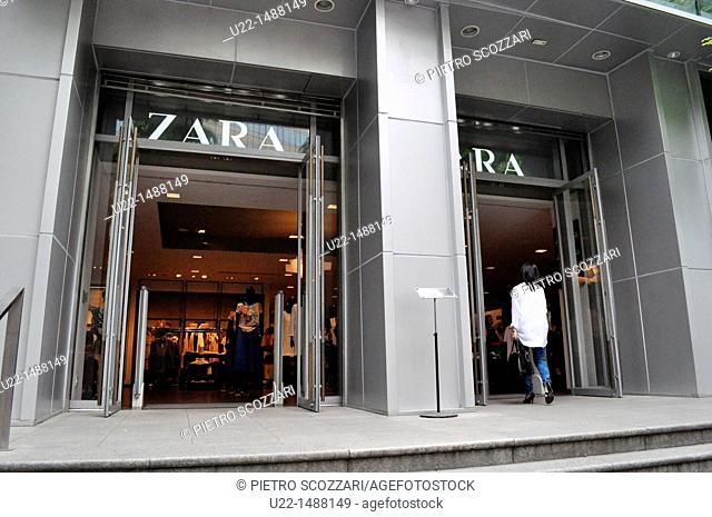 Seoul (South Korea): Zara shop in the Myeong-dong shopping district