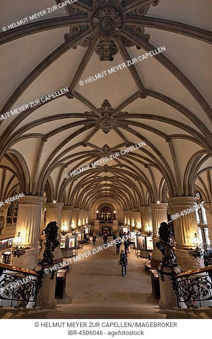 Hall, entrance hall Neo-Renaissance, Hamburg, Germany