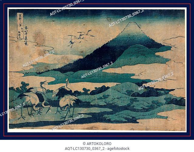 Soshu umezawa zai, Umezawa manor in Soshu., Katsushika, Hokusai, 1760-1849, artist, [1832 or 1833], 1 print : woodcut, color ; 25.2 x 37.3 cm