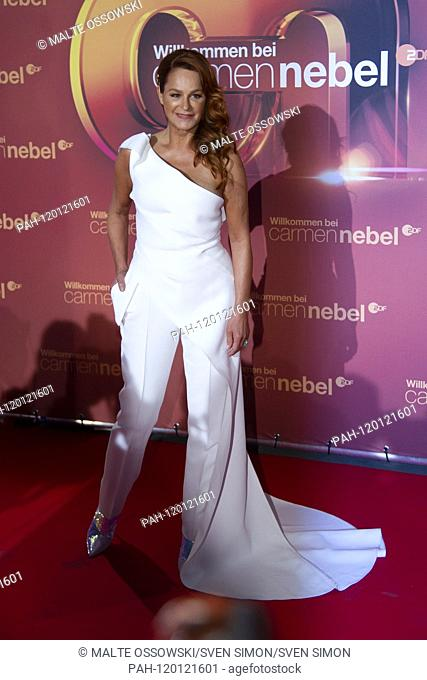 """Andrea BERG, Germany, singer, musician, pop singer, red carpet, Red Carpet Show, arrival, arrival, """"""""Welcome to Carmen Nebel"""""""" 15-year anniversary of the ZDF..."""