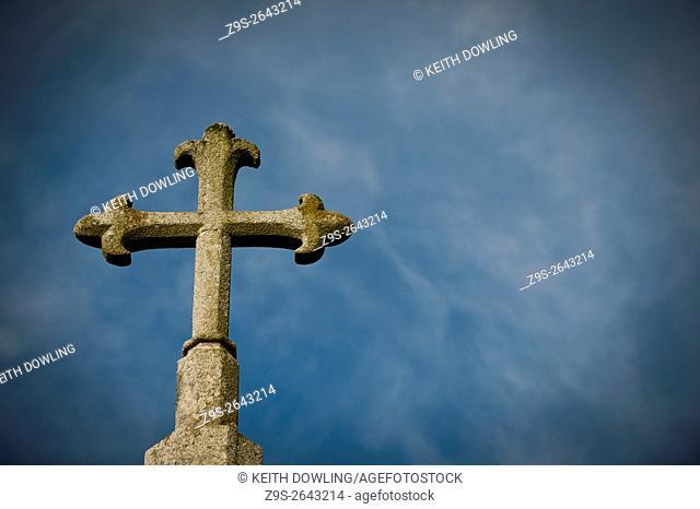 Original Granite Cross on Church,Newtown Village, County Carlow Ireland