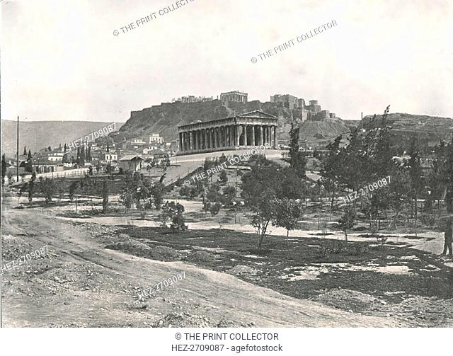 The Agora and Acropolis, Athens, Greece, 1895. Creator: Unknown