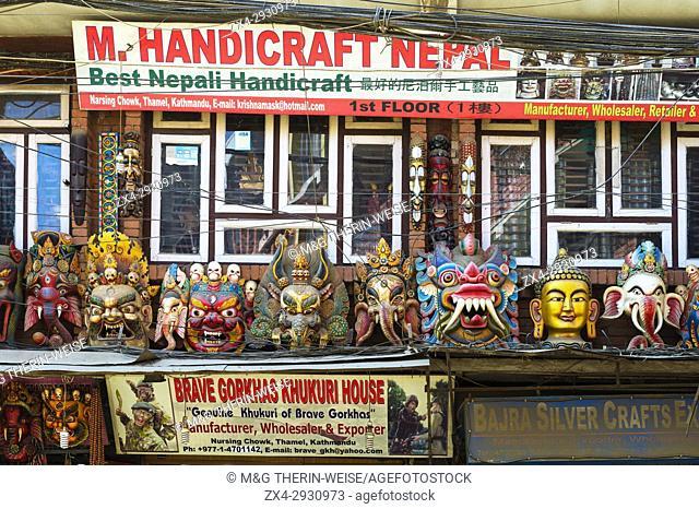 Handicraft shop, Thamel district, Kathmandu, Nepal