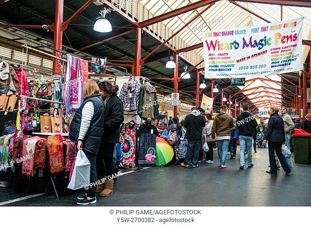 Shoppers at Queen Victoria Market, Melbourne, Australia