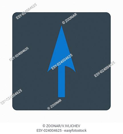 Arrow Axis Y flat smooth blue colors rounded button