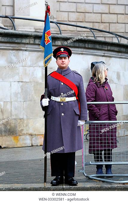 The Lord Mayor's Show outside St Paul's Cathedral Featuring: Atmosphere Where: St Pauls Cathedral, London, United Kingdom When: 11 Nov 2017 Credit: WENN