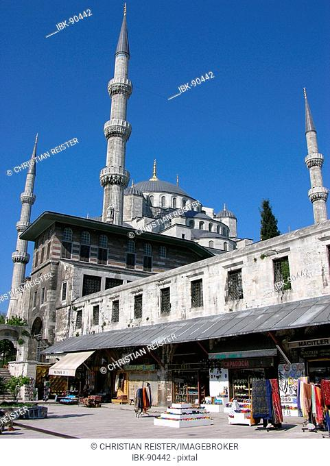 The Blue Mosque in Sultanamet, Istanbul, Turkey, Europe