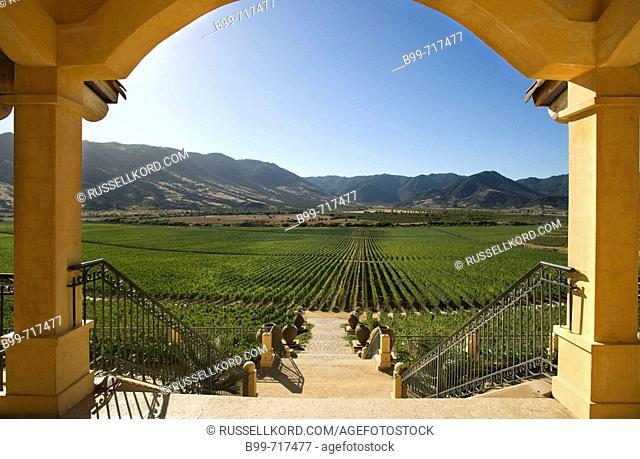 View From Hacienda Vina Santa Cruz Winery Colchagua Valley Chile