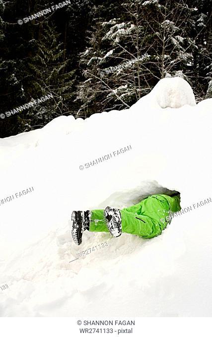 Person in snow