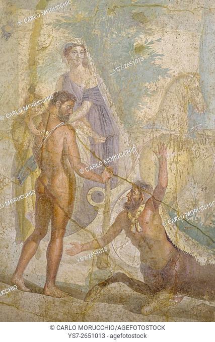 Villa di Agrippa Postumo frescoes, Naples National Archaeological Museum, Naples, Italy, Europe