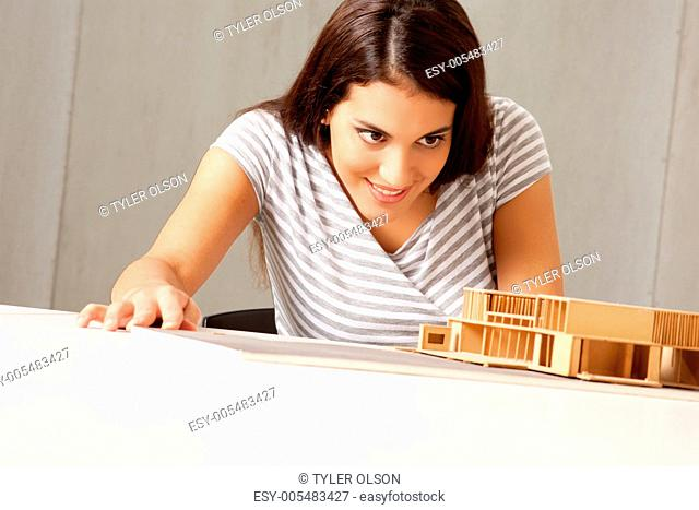 Architect Examining Model