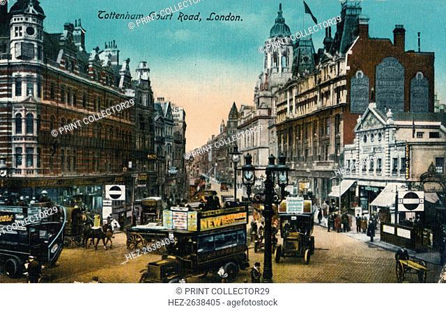 'Tottenham Court Road, London', 1915, (c1900-1930). Artist: Unknown