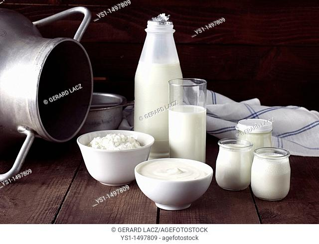 Dairy Produce, Milk, Double Cream, Soft Cheese and Yogurt