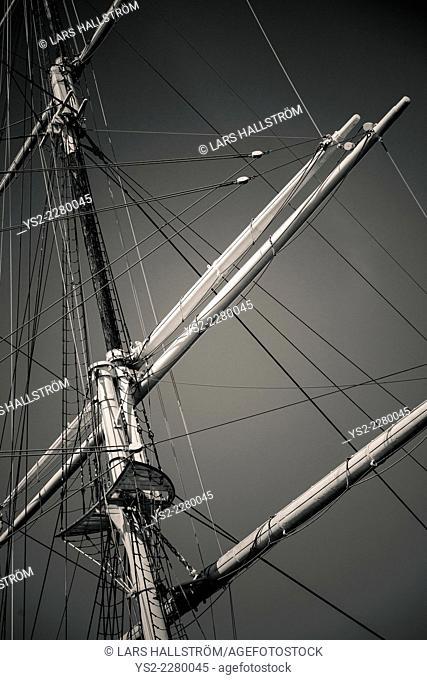 Af Chapman, old ship and landmark in Stockholm, Sweden