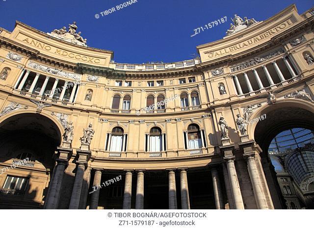Italy, Campania, Naples, Galleria Umberto I, shopping arcade