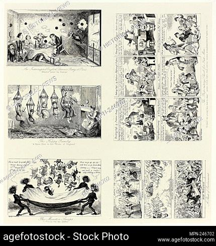 An Interrupted English Dinner Party at Paris from George Cruikshank's Steel Etchings to The Comic Almanacks: 1835-1853 (top left) - 1849, printed c