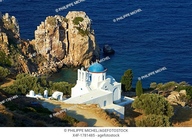 Greece, Cyclades islands, SIfnos, Panagia Poulati monastery