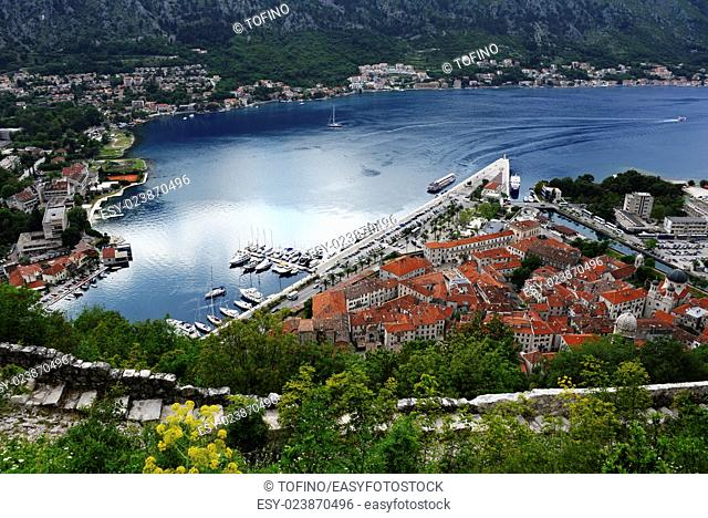 View of the old town of Kotor, Montenegro